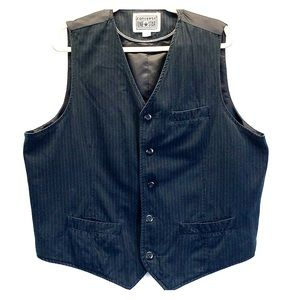 Converse One Star | Pinstriped Black Vest | XL
